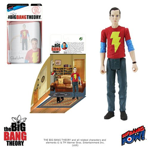 Bif Bang Pow Big Bang Theory Sheldon Shazam Figure